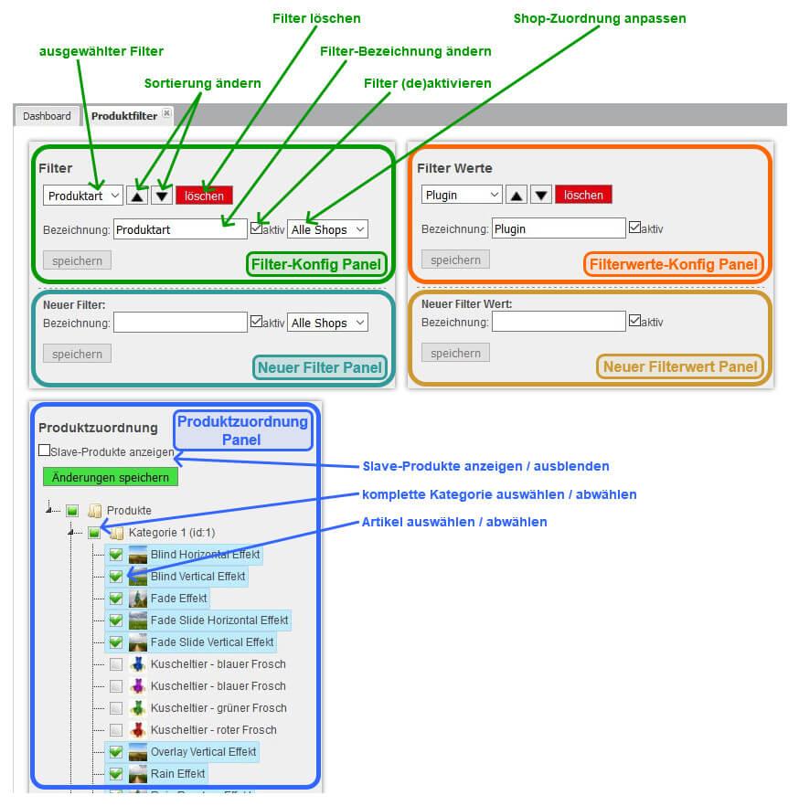Artikelfilter & Produktfilter - Filter für Produkte