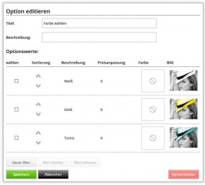Options, Freitext & Berechnungs Plugin