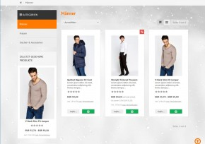 Schnee Effekt für xt:Commerce 4 & 5